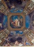 Plafond dans le hall. Musées de Vatican Photos libres de droits