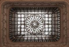 Plafond dans le palais du Parlement roumain photographie stock