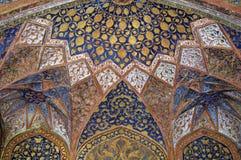 Plafond dans un style très fleuri décoré Image libre de droits