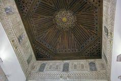 Plafond de caisson dans l'Alcazar de Séville, Espagne image libre de droits