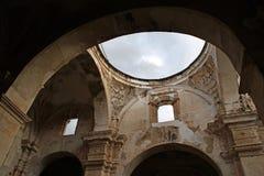 plafond de cathédrale de Santiago Images stock