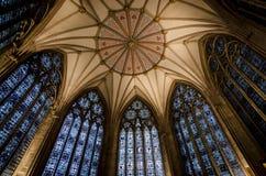 Plafond de Chambre de chapitre de York Minster photographie stock libre de droits