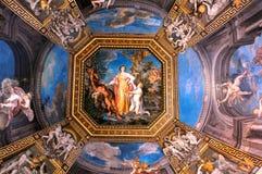 Plafond de galerie dans des musées de Vatican Image libre de droits