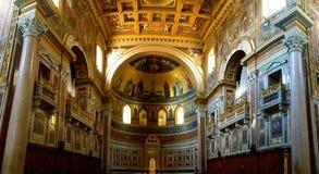 Plafond de Golden Dome avec des piliers Image libre de droits