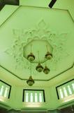Plafond de Kuala Lumpur Jamek Mosque en Malaisie Photographie stock