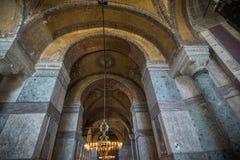 Holy basilica Sofía, Istambul - Turkey. Plafond de la basilique Sainte Sophie, Istambul - Turquie stock photos