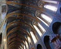 Plafond de la cathédrale d'Albi en France Image stock