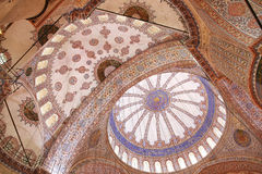 Plafond de la mosquée bleue photographie stock libre de droits