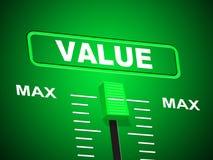 Plafond de Max Indicates Upper Limit And de valeur Images stock