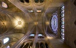 Plafond de Notre Dame Photographie stock libre de droits