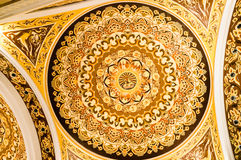Plafond de palais de bouddhiste de Lingshan Photographie stock