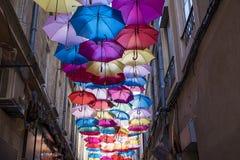 Plafond de parapluies Photo libre de droits