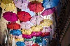 Plafond de parapluies Images stock