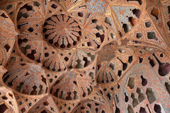 Plafond de pièce de musique en Ali Qapu Palace, Esfahan, Iran Photos libres de droits