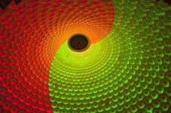 Plafond de temple de lumière de Mulitcolored, Chine images stock