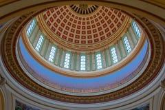 Plafond du dôme du capitol d'état de l'Oklahoma à Oklahoma City, CORRECT photo libre de droits