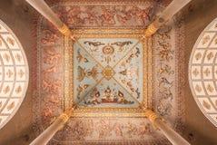 Plafond du Laos Victory Gate (Patuxai) Images stock