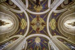 Plafond du palais de paix photographie stock