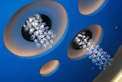 Plafond dynamique dans un casino canadien Photographie stock libre de droits
