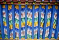 Plafond en bois coloré Images stock