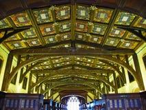 Plafond en bois dans la bibliothèque de Bodleian photo libre de droits