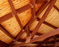 Plafond en bois de lamelle Images libres de droits