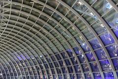 Plafond en verre de mail de parc de Marina Bay Sands Images libres de droits