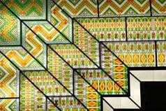 Plafond en verre de mosaïque coloré Images libres de droits