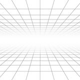 Plafond en vloer de vectorlijnen van het perspectiefnet, architectuur wireframe Royalty-vrije Stock Fotografie