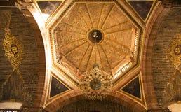 Plafond fleuri d'église Photographie stock libre de droits