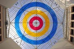 Plafond géométrique en verre Photographie stock libre de droits