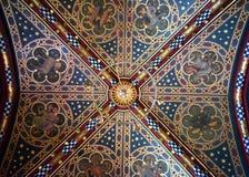 Plafond in het Kasteel van Cardiff, Wales royalty-vrije stock fotografie