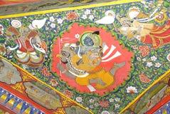 Plafond in het Paleis van de Stad in Udaipur, Rajasthan Royalty-vrije Stock Afbeeldingen