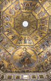 Plafond het schilderen van Baptistery van San Giovanni Florence royalty-vrije stock fotografie