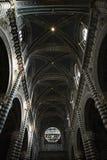 Plafond intérieur de cathédrale de Sienne. Photos stock
