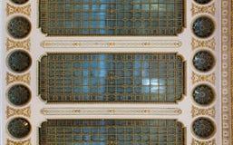 Plafond met glas Stock Afbeelding