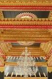 Plafond met mooi ornament in Yogyakarta-het Paleis van het Sultanaat Royalty-vrije Stock Fotografie