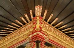 Plafond met mooi ornament in Yogyakarta-het Paleis van het Sultanaat Stock Foto