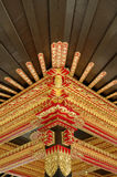 Plafond met mooi ornament in Yogyakarta-het Paleis van het Sultanaat Royalty-vrije Stock Foto's