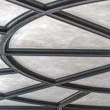 Plafond met opgeheven banden in een radiaal patroon royalty-vrije stock foto's