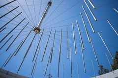 Plafond moderne de l'amphithéâtre de la ville de Viña Del Mar, au Chili photo stock