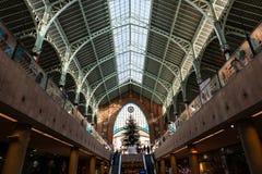 Plafond original du marché de Columbus à Valence photographie stock libre de droits