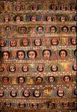 Plafond peint d'église en Ethiopie photographie stock