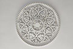 Plafond Rose de plâtre ou plat Image libre de droits