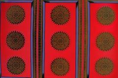 Plafond rouge Photographie stock libre de droits