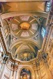 Plafond solides solubles Vincenzo E Anastasio Church Rome Italy d'agneau Image stock