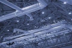 Plafond van de industriële bouw. Stock Fotografie