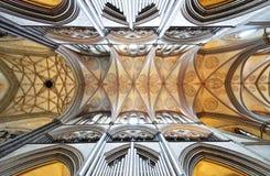 Plafond van de Kathedraal van Salisbury stock afbeelding