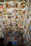 Plafond van de Sistine-Kapel royalty-vrije stock foto