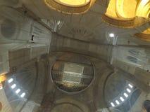 Plafond van een moskee stock foto